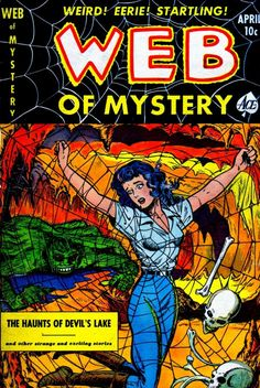Comic Book Cover For Web of Mystery #8