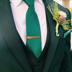 University of Michigan-Brushed Metal Tie Clip-Gold