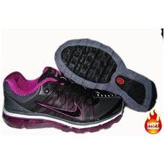 Nike Air Max 2009 Women Mesh Shoes Black/Purple Color Air Max 2009, Air Max Sneakers, Sneakers Nike, Cheap Air, Black Shoes, Nike Air Max, Woman Shoes, My Style, Purple