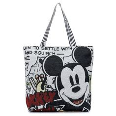 Casual Cartoon Minnie Mickey Printed Single Shoulder Canvas Handbag (186.215 IDR) ❤ liked on Polyvore featuring bags, handbags, shoulder bags, zipper tote, shoulder tote bags, zippered tote bag, man shoulder bag and canvas shoulder bag