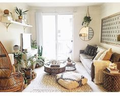 Love the boho vibe. Boho Room, Living Spaces, Living Room, White Space, Home Bedroom, Bedroom Ideas, Cozy House, Apartment Therapy, Outdoor Living