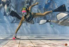 Australia Underwater Hockey - Picture of Australian player in World Championship 2016 in Stellenbosch