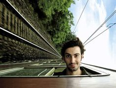 Ever taken the train for your trip? (PS  - don't do what this guy's doing. It's probably not the best idea)
