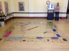 Life size Monopoly board. Custom with Uppercase Living vinyl. Amazing what you can do with Uppercase Living! LOVE
