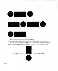 Paul Rand. RCA morse code advertisement 1954