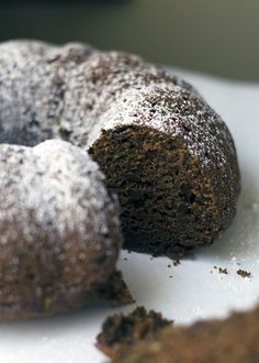Vegan Chocolate, Zucchini and Coffee  Bundt