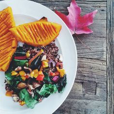 Recipe: Autumn Roasted Red Kuri Squash w/ Rainbow Chard
