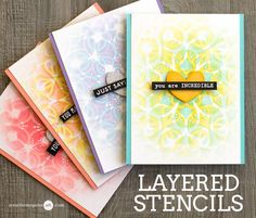 Layered Stenciling + GIVEAWAY - Jennifer McGuire Ink