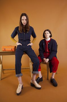 Danny Boilersuit, Finlay boilersuit in red Denim Jumpsuit, Dungarees, Boiler Suit, Fall Winter, Autumn, Loungewear, Street Style, Red, Fashion