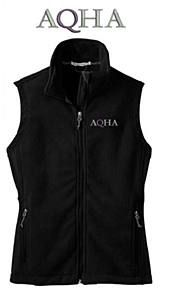 Ladies, stay warm on the trail, in the barn or wherever your American Quarter Horse takes you. Check out this AQHA fleece vest at aqhastore.com.
