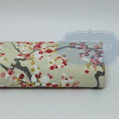 Tissu japonais Sakura beige 01