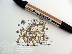 Stempeleinmaleins: coloring with ProMarkers