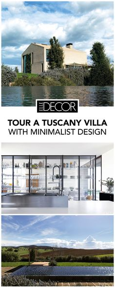 Architect Piero Lissoni crafts a clean minimal home in a secluded valley in Tuscany. Italian Living Room, Tuscany Homes, Tuscany Decor, Minimal Home, Italian Home, Celebrity Houses, Industrial Interiors, Minimalist Design, House Tours