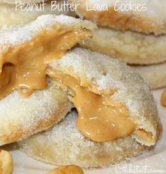 Peanut Butter Lava Cookies Recipe ~ buttery, flaky, sugary little gems... My oh My, YUM!