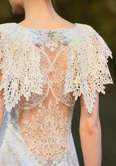 Claire Pettibone Raphella wedding dress, Gothic Angel Collection