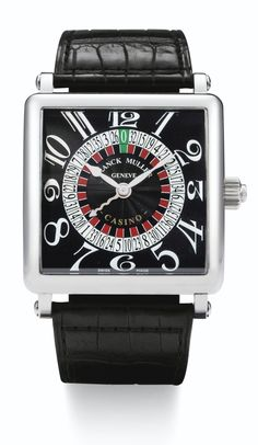 Franck Muller   lot   Sotheby'sA LIMITED EDITION STAINLESS STEEL SQUARE AUTOMATIC WRISTWATCH WITH ROULETTE REF 6050 K CSN NO 41/50 CASINO CIRCA 2010