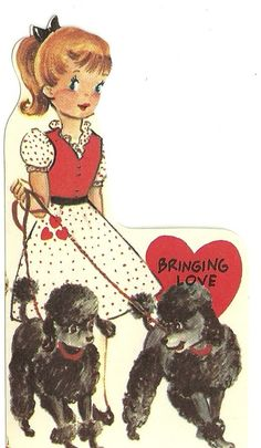 Vintage Valentine's Day Card 1950's by MadCrafting on Etsy, $3.00