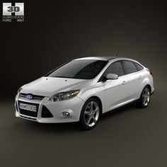 Ford Focus Sedan 2011 3d model from humster3d.com. Price: $75
