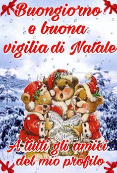 Buona Vigilia di Natale immagini nuove Italian Christmas, Merry Christmas, Xmas, Italian Memes, Good Morning, Plank, Snoopy, Facebook, Google