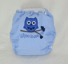 Who Loves Ya Embroidered Size 2 Pocket Cloth Diaper by anibows, $24.95