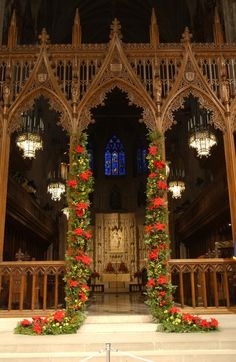 Christmas in Washington, DC - A Photo Gallery of Decorations: National Cathedral at Christmas
