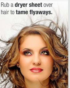 Daily Workout TV: Beauty Tip: Taming Fly Away Hair Fly Away Hair, Beauty Hacks, Beauty Tips, Hair Makeup, Hair Color, Hair Treatments, Workout, Dryer, Hair Styles