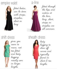 It's all about that A-line. | 41 Insanely Helpful Style Charts Every Woman Needs Right Now
