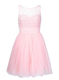 Anni Coco Women's Empire Waist Bead Short Pleated Tulle Dresses Pink Small Anni Coco http://www.amazon.com/dp/B00R2MSJ0C/ref=cm_sw_r_pi_dp_sIDnvb1W1K5W8
