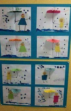 Kids Crafts, Projects For Kids, Diy For Kids, Preschool Weather, Weather Crafts, Kindergarten Art, Preschool Crafts, Preschool Learning, Free Preschool