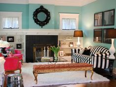 these color combos together are so pretty!!!: black & white, teal/turquoise-ish, pink & gold