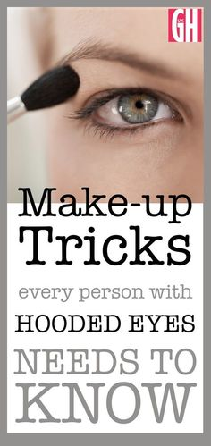 eyeshadow for hooded eyes Applying makeup to hooded eyelids can be difficult - and sometimes even pointless. However, there are a lot of easy tricks you can do. We asked makeup artist Liz Pugh for her top tips on how to apply eye makeup to hooded lids. Makeup Tricks, Eye Makeup Tips, Beauty Makeup, Makeup Tutorials, Makeup Ideas, Makeup Eyeshadow, Makeup Geek, Eyeshadows, Eyebrow Makeup