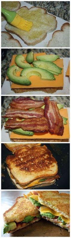 Yummy Recipes: Bacon Avocado Grilled Cheese recipe