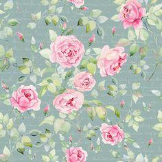 Watercolor English rose. Pattren. on Behance