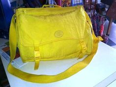 MAGICA  tracolla  donna gialla nuova con etichette ideale per la scuola