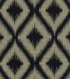 Upholstery Fabric-Robert Allen Ikat Fret-Charcoal at Joann.com