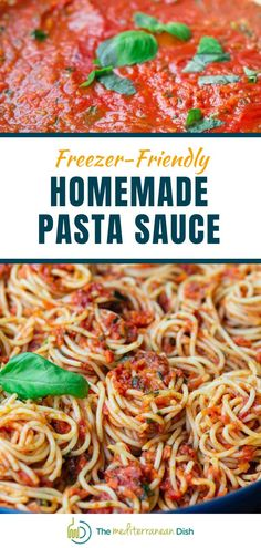 This is the recipe you have been waiting for! Try this freezer friendly homemade pasta sauce for a dinner that will impress anyone. Make it for an easy weeknight meal today! #pastasauce #homemade #weeknightmeals #easypastasauce Mediterranean Fish Recipe, Mediterranean Dishes, Homemade Spaghetti Sauce, Homemade Pasta, Sauce Recipes, Fish Recipes, Easy Weeknight Meals, Easy Meals, Greek Chicken Recipes