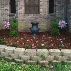 My flower bed in front of my house