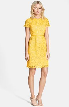 Adrianna Papell Scalloped Lace Dress (Regular & Petite) available at #Nordstrom