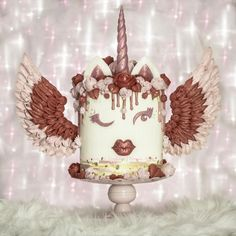 Valentine Unicorn Cake by With Love & Confection | Veronica Arthur by With Love & Confection