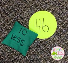 Sit Spot Fun for One More/ Less and Ten More/ Less - Fantastic First Grade Froggies