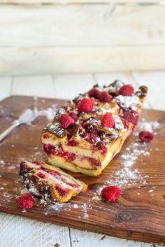 Armer-Ritter-Kuchen mit Brioche und Himbeeren (Gateau de Pain perdu à la brioche et aux framboises) brot fruehstueck kinder rezepte…