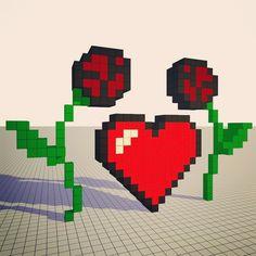 #valentinesday #valentinstag #valentine #rose #heart #retro #pixelart #voxelart