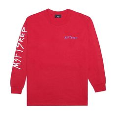 Freehand Long Sleeve T-Shirt, Red