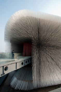 'Seed Cathedral' by Thomas Heatherwick functions as the UK's pavilion at Expo 2010 in Shanghai.