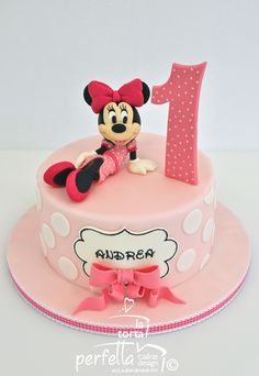 Minnie First Birthday Cake