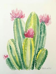 Items similar to Cactus watercolor PRINT on Etsy art drawing flower garden indoor plants tattoo Cactus Drawing, Cactus Painting, Watercolor Cactus, Watercolor Print, Watercolor Paintings, Simple Watercolor, Tattoo Watercolor, Watercolor Animals, Watercolor Techniques