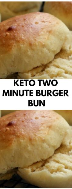 When I first started the Keto Diet I really missed bread… This is a simple, quick and easy, low carb replacement for a burger bun. This Keto bread is also Keto Buns For Burgers, Keto Burger, Burger Bread, Low Carb Burger Buns, Keto Banana Bread, Best Keto Bread, Bread Diet, Roti Bread, Blueberry Bread