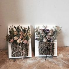 Wood Crafts, Diy And Crafts, Arts And Crafts, Wood Board Crafts, Flower Frame, Flower Art, Dried Flowers, Paper Flowers, Deco Floral