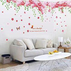 αυτοκόλλητα τοίχου αυτοκόλλητα τοίχου μεγάλο χαρακτηριστικό ρομαντικό κεράσι ανθίσει αποσπώμενο πλενόμενο PVC – EUR € 13.99