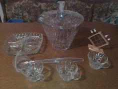 Kristallglas Bowle Mega Party Set!Neu (Ungebraucht)!12 teilig!